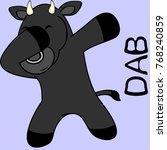 dab dabbing pose bull kid