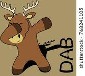 dab dabbing pose deer kid