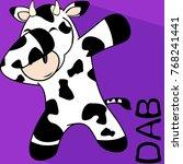 dab dabbing pose cow kid... | Shutterstock .eps vector #768241441