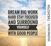inspirational motivating quotes ... | Shutterstock . vector #768242704