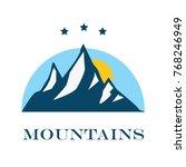 vector mountain with texture.... | Shutterstock .eps vector #768246949