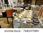 catering food mini canape | Shutterstock . vector #768247084