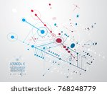 futuristic abstract vector... | Shutterstock .eps vector #768248779