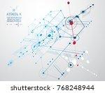 technical plan  abstract... | Shutterstock .eps vector #768248944