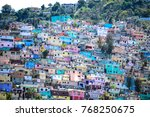 housing stacked port au prince  ... | Shutterstock . vector #768250675