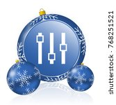 slider blue christmas balls icon