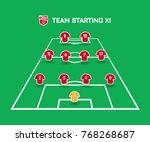 football starting xi. soccer... | Shutterstock .eps vector #768268687