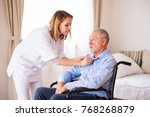 nurse and senior man in... | Shutterstock . vector #768268879