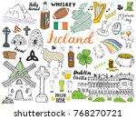 ireland sketch doodles. hand... | Shutterstock .eps vector #768270721