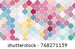multicolor geometric vector... | Shutterstock .eps vector #768271159