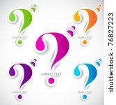 colorful paper question mark... | Shutterstock .eps vector #76827223