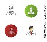 doctor icon. flat design ... | Shutterstock .eps vector #768275791