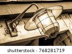old  antique streetlamp  ... | Shutterstock . vector #768281719