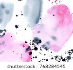 hand made watercolor wash... | Shutterstock . vector #768284545