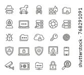 data security related icons ... | Shutterstock .eps vector #768291091