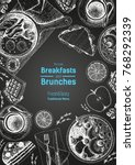 breakfasts and brunches top... | Shutterstock .eps vector #768292339