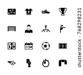 soccer icons   expand to any... | Shutterstock .eps vector #768298231