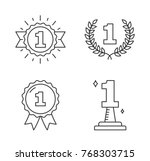 four line icons with number one ... | Shutterstock .eps vector #768303715