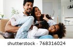 picture of happy family having...   Shutterstock . vector #768316024