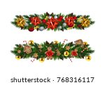 vector christmas fir decoration ... | Shutterstock .eps vector #768316117