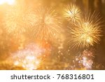 fireworks at new year and copy... | Shutterstock . vector #768316801