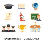 school and education icon set | Shutterstock .eps vector #768320965