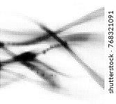 abstract grunge grid polka dot... | Shutterstock .eps vector #768321091