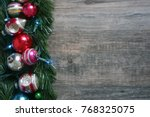 colorful vintage holiday... | Shutterstock . vector #768325075
