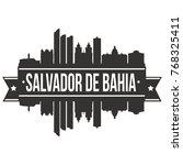 salvador de bahia brazil... | Shutterstock .eps vector #768325411