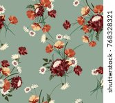 seamless floral background with ...   Shutterstock .eps vector #768328321