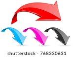 down bent colored arrows. web... | Shutterstock .eps vector #768330631