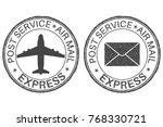 post service express postmarks... | Shutterstock .eps vector #768330721