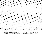abstract halftone wave dotted... | Shutterstock .eps vector #768342577