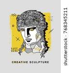 creative modern classical... | Shutterstock .eps vector #768345211