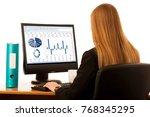 beautiful young business woman...   Shutterstock . vector #768345295