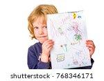 schoolchild presents painted... | Shutterstock . vector #768346171