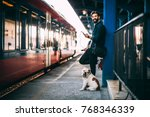 young man using mobile phone at ... | Shutterstock . vector #768346339