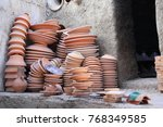 Preparing Clay Pottery For...