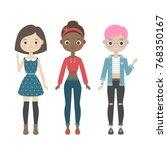 vector illustration of cute... | Shutterstock .eps vector #768350167