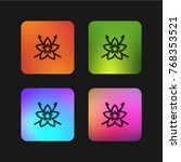 vanilla four color gradient app ... | Shutterstock .eps vector #768353521
