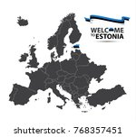 vector illustration of a map of ... | Shutterstock .eps vector #768357451