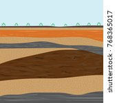 soil formation and soil... | Shutterstock .eps vector #768365017