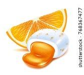 realistick chewing gum pellet... | Shutterstock .eps vector #768367477