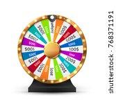 fortune wheel vector background.... | Shutterstock .eps vector #768371191