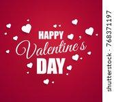 valentines day love background. ... | Shutterstock .eps vector #768371197
