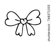 bow on background vector... | Shutterstock .eps vector #768371335