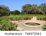 rose garden  park ramat hanadiv ... | Shutterstock . vector #768372061