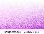 abstract purple and white bokeh ... | Shutterstock . vector #768373111