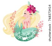 cute mermaid vector. fashion... | Shutterstock .eps vector #768373414