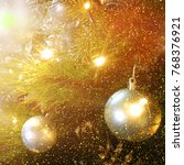 christmas background.holiday... | Shutterstock . vector #768376921